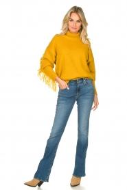 Kocca |  Turtleneck sweater Fisten | ochre yellow  | Picture 3