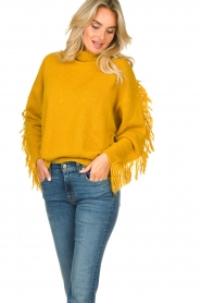 Kocca |  Turtleneck sweater Fisten | ochre yellow  | Picture 2