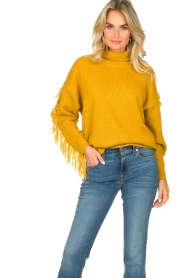Kocca |  Turtleneck sweater Fisten | ochre yellow  | Picture 5