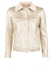 Hoss Intropia | Biker jacket Shine | champagne  | Afbeelding 1