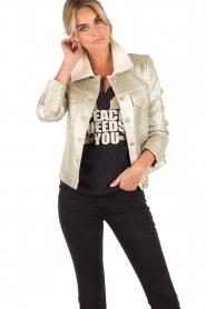 Hoss Intropia | Biker jacket Shine | champagne  | Afbeelding 2