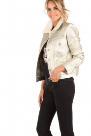 Hoss Intropia | Biker jacket Shine | champagne  | Afbeelding 4