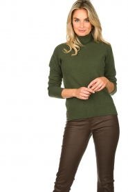Kocca |  Knitted sweater Mister | green  | Picture 4