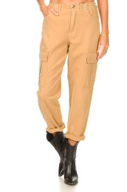 Set |  Cargo pants Rose | camel  | Picture 4