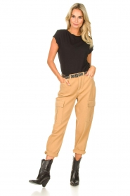 Set |  Cargo pants Rose | camel  | Picture 3