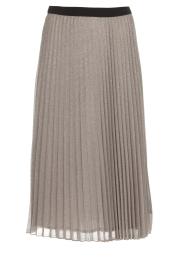 Set |  Glitter plisse skirt Tori | silver  | Picture 1