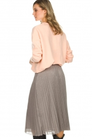 Set |  Glitter plisse skirt Tori | silver  | Picture 5