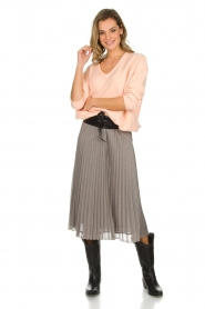 Set |  Glitter plisse skirt Tori | silver  | Picture 3