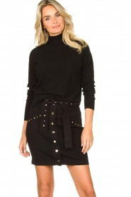 Kocca |  Knitted sweater Mister | black  | Picture 2