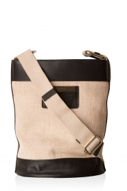 Shoulder bag Paola | sand and black