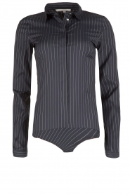 Patrizia Pepe |  Body blouse Esra | dark blue  | Picture 1
