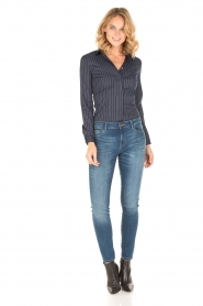 Patrizia Pepe |  Body blouse Esra | dark blue  | Picture 6