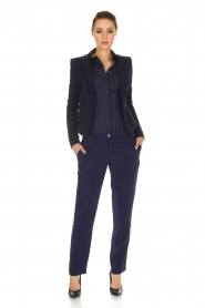 Patrizia Pepe |  Body blouse Esra | dark blue  | Picture 3