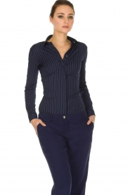 Patrizia Pepe |  Body blouse Esra | dark blue  | Picture 2