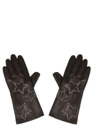Becksöndergaard | 100% leren handschoenen Rippe | zwart  | Afbeelding 1