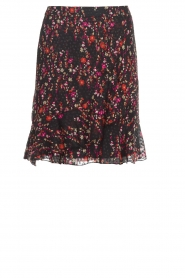 Set |  Floral skirt with ruffles Mirra | black  | Picture 1