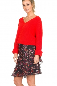 Set |  Floral skirt with ruffles Mirra | black  | Picture 4