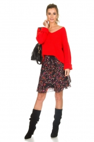 Set |  Floral skirt with ruffles Mirra | black  | Picture 3