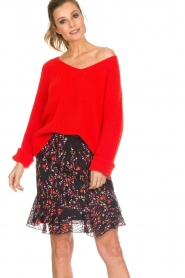 Set |  Floral skirt with ruffles Mirra | black  | Picture 2