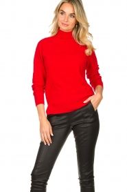 Kocca |  Knitted sweater Mister | red  | Picture 6