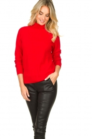 Kocca |  Knitted sweater Mister | red  | Picture 4