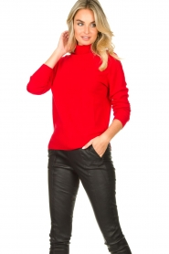 Kocca |  Knitted sweater Mister | red  | Picture 5