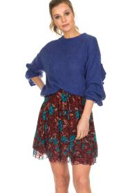 Set |  Floral skirt Moana | bordeaux  | Picture 3