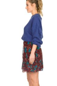 Set |  Floral skirt Moana | bordeaux  | Picture 4