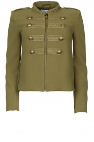 Patrizia Pepe |  Militairy jacket Janna | green  | Picture 1