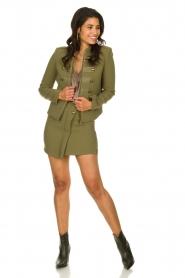 Patrizia Pepe |  Militairy jacket Janna | green  | Picture 3