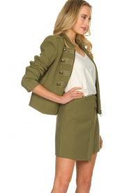 Patrizia Pepe |  Militairy jacket Janna | green  | Picture 4
