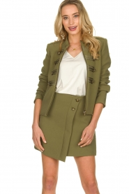 Patrizia Pepe |  Militairy jacket Janna | green  | Picture 2