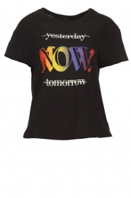 Set |  T-shirt with text print Drew | black  | Picture 1