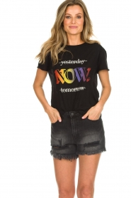 Set |  T-shirt with text print Drew | black  | Picture 2