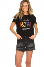 Set |  T-shirt with text print Drew | black  | Picture 4