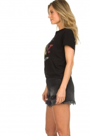 Set |  T-shirt with text print Drew | black  | Picture 5