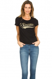 Set |  T-shirt with glitter print Sparkle | black  | Picture 2