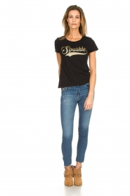 Set |  T-shirt with glitter print Sparkle | black  | Picture 3
