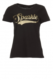 Set |  T-shirt with glitter print Sparkle | black  | Picture 1