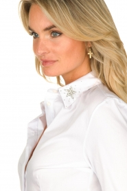 Kocca |  Blouse with collar decorations Rowema | white  | Picture 7