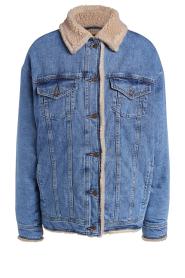 Set |  Denim jacket with faux fur | blue  | Picture 1