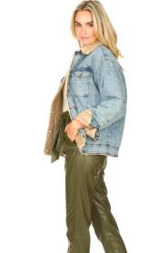 Set |  Denim jacket with faux fur | blue  | Picture 5