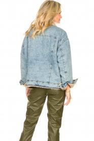 Set |  Denim jacket with faux fur | blue  | Picture 6