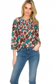 Set |  Top with flower print Stephie | multi  | Picture 2
