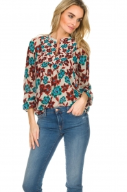 Set |  Top with flower print Stephie | multi  | Picture 4