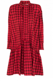 Munthe |  Checkered dress Jamilla | red  | Picture 1