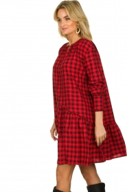 Munthe |  Checkered dress Jamilla | red  | Picture 6