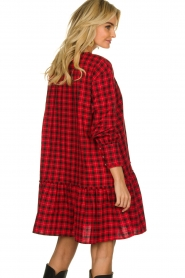 Munthe |  Checkered dress Jamilla | red  | Picture 7