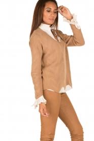 Patrizia Pepe | Gebreide trui Neomi | camel  | Afbeelding 4