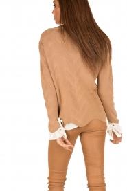 Patrizia Pepe | Gebreide trui Neomi | camel  | Afbeelding 5